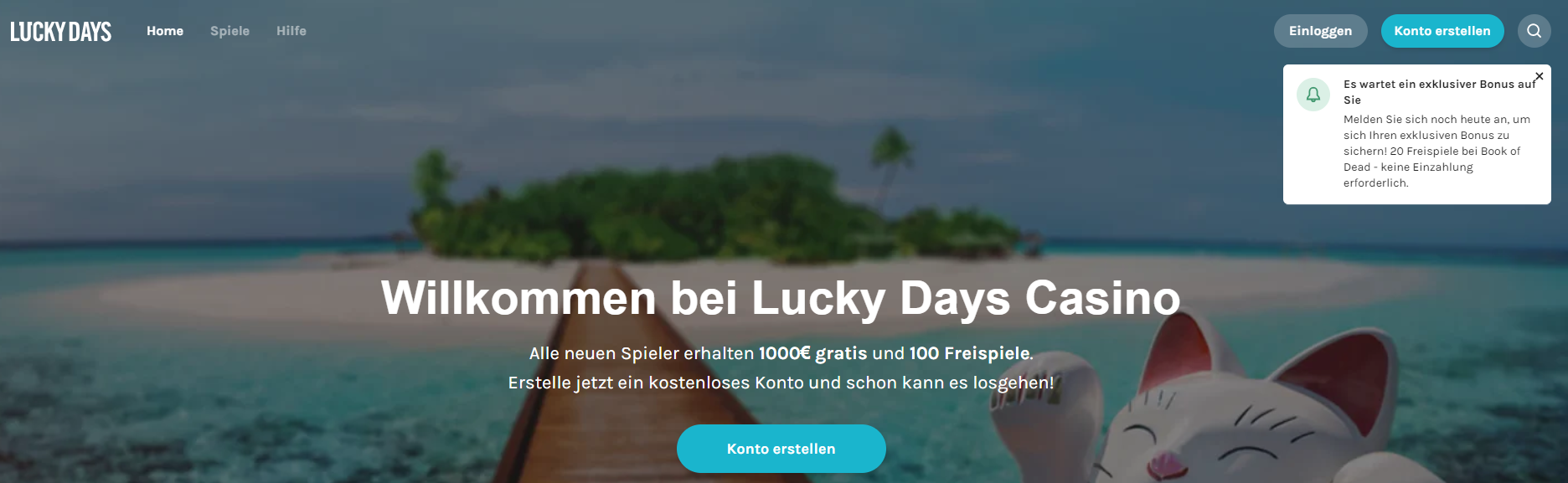 luckydays no deposit