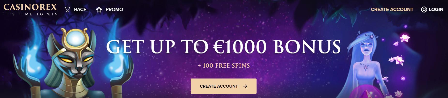 Casinorex Freespins