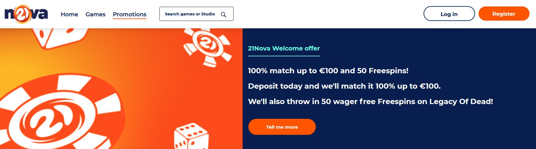 21nova Freespins