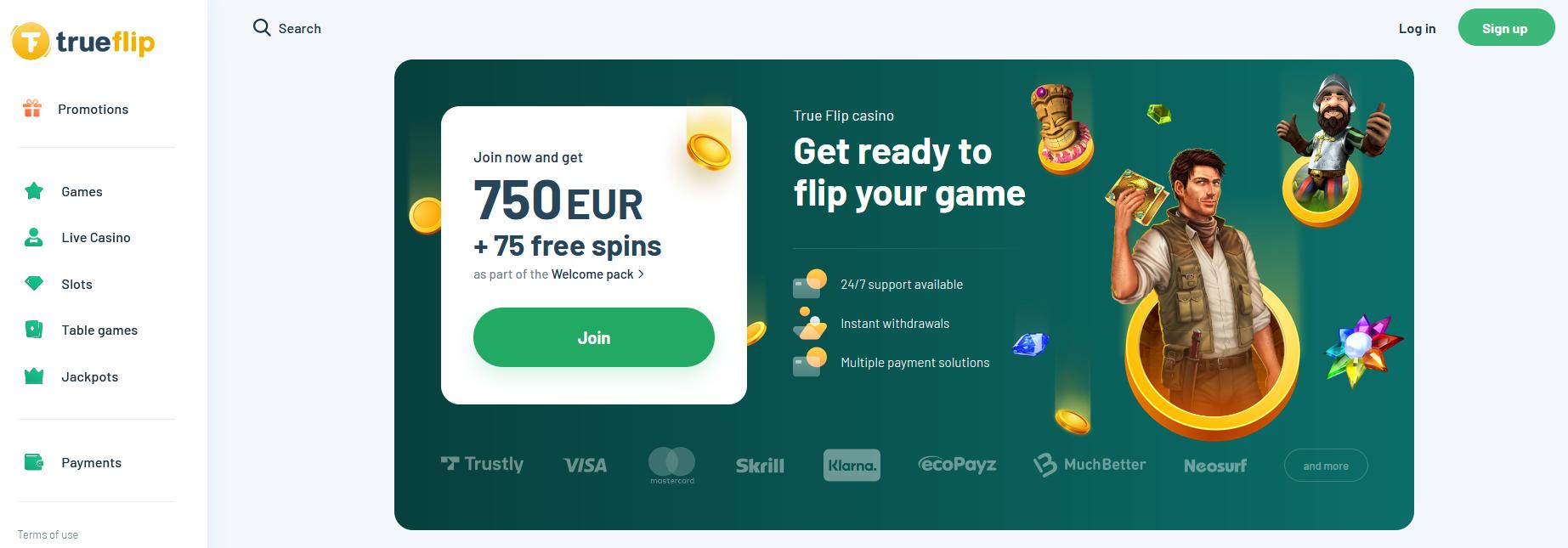 Trueflip.com Freespins